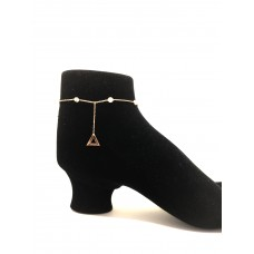 925 Silver Cubic Zirconia Anklet - SH0168